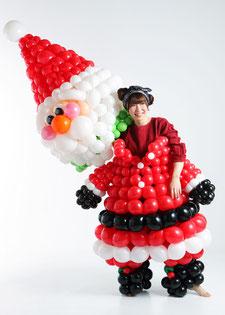 野村昌子×着ぐるみバルーン「サンタクロース1」バルーンアート