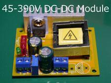 DC-DC Boost Converter 8-32V to 45-390V  Step-up Booster Modul