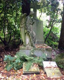 Das Familiengrab von Gustav Adolf Oetling