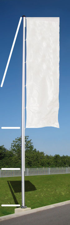 Fahnenmast WindSwinger PRO mit Detail