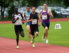 Andreas Vojta beim 800m Rennen in Salzburg