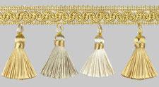 бахрома для штор артикул К02-09 светлое золото/бежевый/светло-бежевый