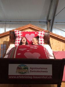 Attraktion am Stand von Agrotourismus Zentralschweiz/Luz. Bauernverband