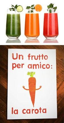 centrifugati frutta e verdura e carota ottimi disintossicanti