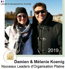 Mélanie et Damien Koenig Leader d'organisation Platine 2019  LR Health and Beauty Systems
