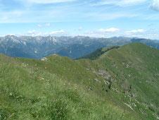 La cresta verso la Laurasca