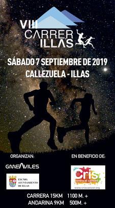 VIII CARRERILLAS NOCTURNA - Callezuela-Illas, 07-09-2019