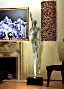Drahtskulptur Kriegerin