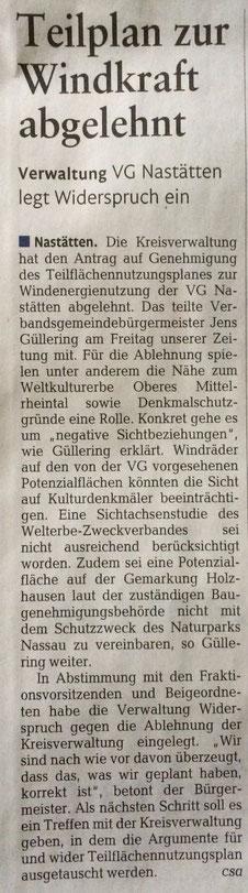 Rhein-Lahn-Zeitung v. 22.10.2016