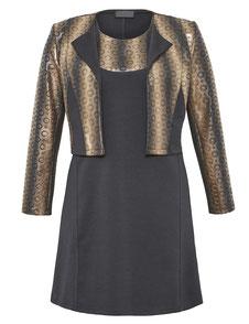 schwarzes Kleid mit Bolero XL , schwarzes Kleid Übergrößen , Kleid schwarz Größe 46