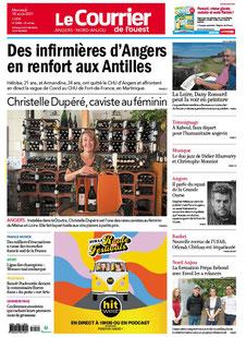 Courrier de l'Ouest du 18 août 2021, Christelle Dupéré caviste au féminin