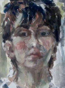 Selbstporträt, Tempera, 50x60, 1963,