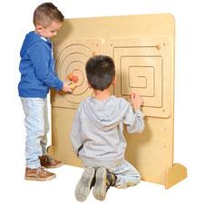 Élément mural rond ou carré? Matériel pédagogiques pour apprendre la motricité aux enfants. Matériel à acheter pas cher du tout!