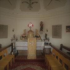 Blick in die Grünthaler Kapelle
