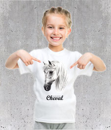 tshirt filette cheval