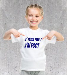 tshirt foot fillette