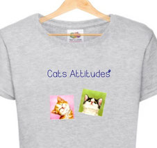 tshirt filette chat