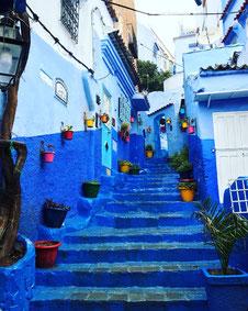モロッコでインスタ映えする景色と言えば、ブルーの街なみ「シャウエン」がおすすめです!Mika