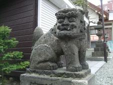 手稲神社の狛犬さん