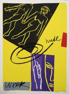 Bruce Mc Lean o.T. Serigrafie auf Karton  100x80cm Auflage 60 Stk.
