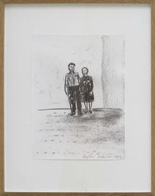 "Stephan Balkenhol   ""Ohne Titel"", Kohle auf Papier 32 x 24 cm , Werknummer: SB 2016"