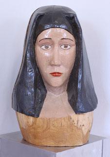 "Jan Gottschalk, ""Madonna I"", Skulptur, Holz / Lack"