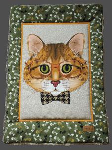Tolle Katzendecke Liegedecke 'Mr. Cat' stylisches Katzenmotiv