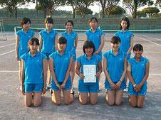 女子学校対抗準優勝の太田尾島