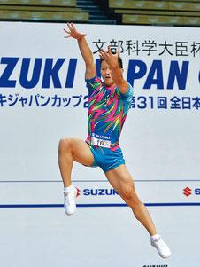 シニア男子シングル優勝の斉藤瑞己