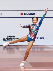 ユース1女子シングル優勝の金子実楓