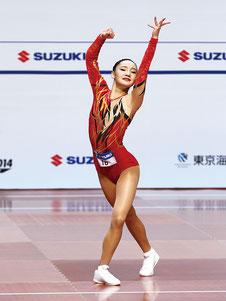 ユース2女子シングル優勝の北爪凜々