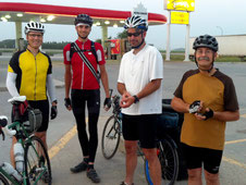 Manitoba Randonneurs cyclists preparing for a 1000 km bike ride through Riding Mountain