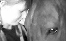 Ein Herz und eine Seele: Reiter und Pferd.
