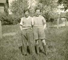 Manfred und Ziggi Shipper nach der Befreiung 1945