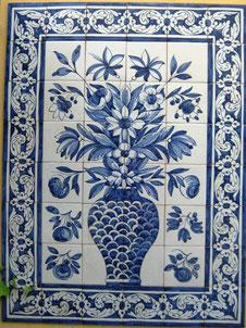 """""""Blumenvase blau-weiß"""" Art.-Nr.: PN-120, Größe: 1,12x84cm"""
