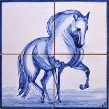 """""""Passion"""" blau-weiß PN-141, 28x28cm"""