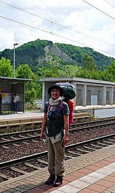 Los geht es am Bahnhof Kahla