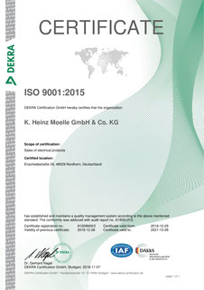 Certificate ISO 9001 (english)