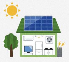 太陽光発電 イラスト
