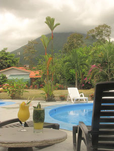 Hotel with view to Arenal Volcano