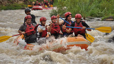 Combo: Canyoneering, Rafting, Lunch, Baldi hot Springs one day pass and dinner.