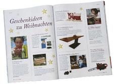 Beitrag in der Zeitschrift Kraut & Rüben über die Unikattische aus Holz und Cortenstahl von Josef Meßm