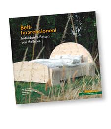 """Titelseite der Broschüre """"Bett-Impressionen"""""""