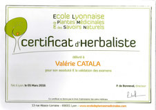 Certificat Herbaliste Valérie Catala