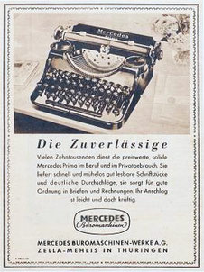 Die Zuverlässige - the reliable Mercedes typewriter