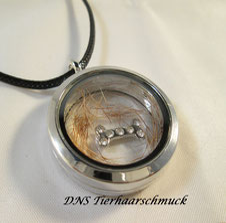 Medaillon für Tierhaar