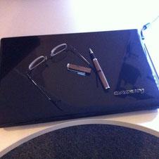 Schreibtischund Computer von der Delmenhorster Schriftstellerin Katy Buchholz