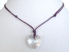 Halskette mit Kristallherz