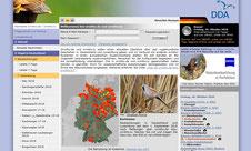 Startseite von Ornitho.de