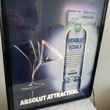 Absolut Vodka lichtreclame